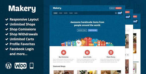 قالب فروشگاه دیجیتال v1.22 Makery (رایگان)