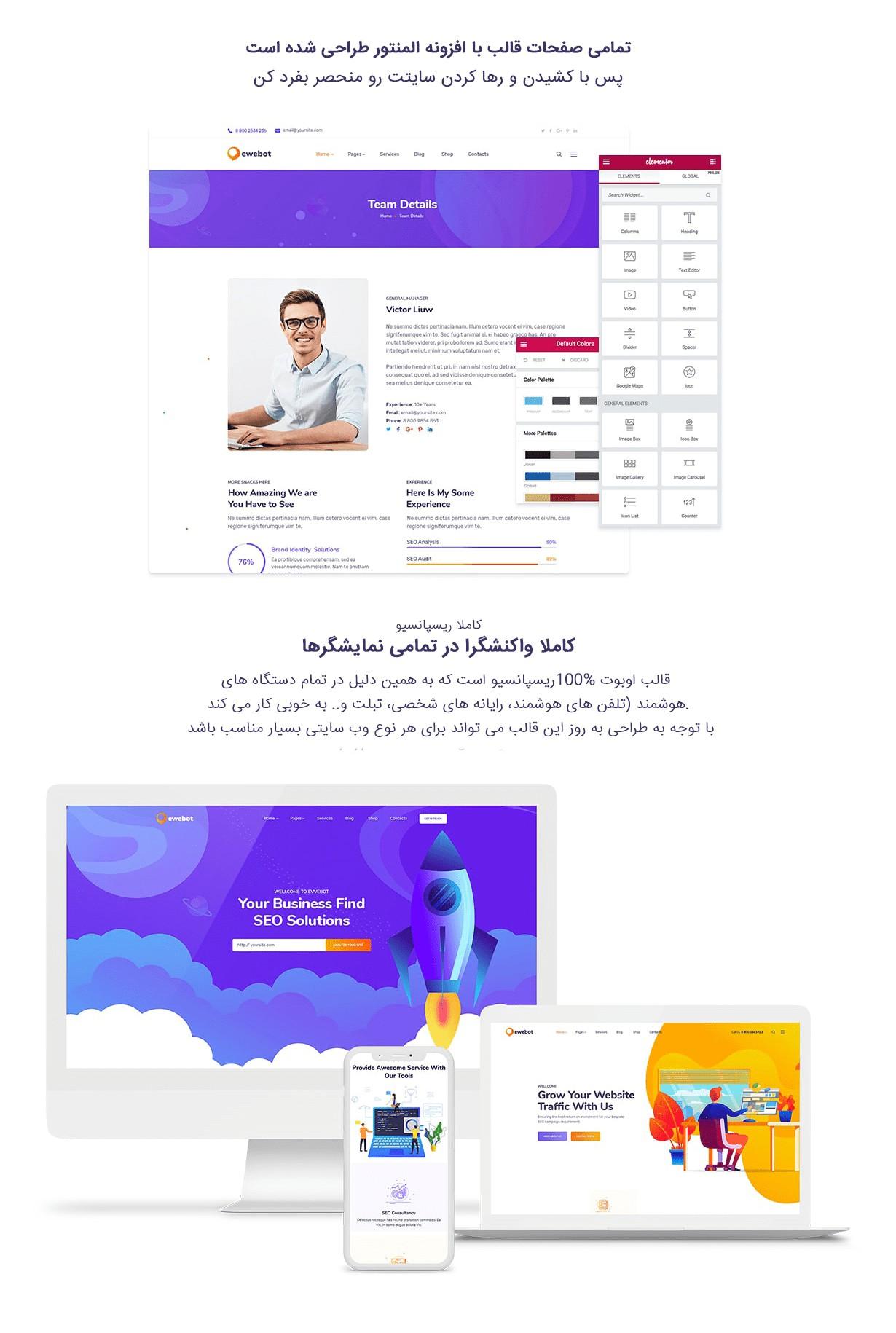 کاملترین و اورجینالترین نسخه فارسی قالب Ewebot