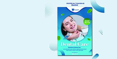 دانلود پوستر لایه باز دندان پزشکی PSD رایگان