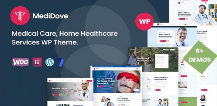 دانلود رایگان قالب وردپرس پزشکی - قالب MediDove - راستچین