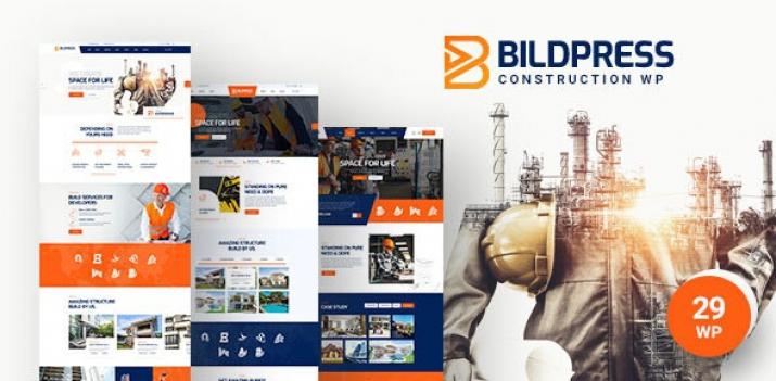 دانلود رایگان قالب وردپرس ساخت و ساز - قالب BildPress راستچین