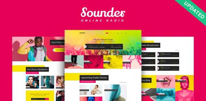 دانلود رایگان قالب وردپرس ایستگاه رادیویی اینترنتی - قالب Sounder بصورت راستچین
