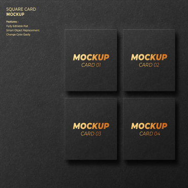 دانلود مجموعه سه موکاپ کارت ویزیت بسیار شیک
